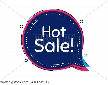 Hot Sale. Thought Bubble Vector Banner. Special Offer Price Sign. Advertising Discounts Symbol. Dial