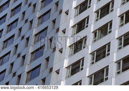 Leeds, West Yorkshire, United Kingdom: 18 September 2020: Tall Modern Buildings On Merrion Way In Th