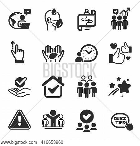 Set Of People Icons, Such As Group People, Sick Man, Business Statistics Symbols. Like, Fair Trade,
