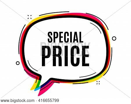 Special Price Symbol. Speech Bubble Vector Banner. Sale Sign. Advertising Discounts Symbol. Thought