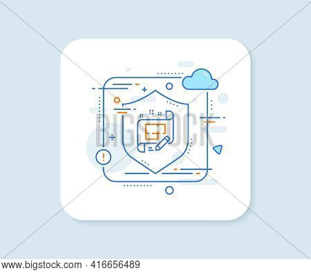 Architect Line Icon. Abstract Vector Button. Engineering Plan Sign. Edit Project Document. Architect