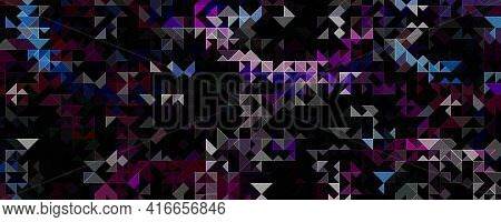Fantastic Abstract 3d Glass Panorama Design Illustration