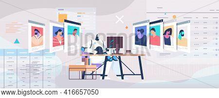 Robot Hr Manager Choosing Resume Curriculum Vitae Of Employees Job Candidates Recruitment Hiring Ai