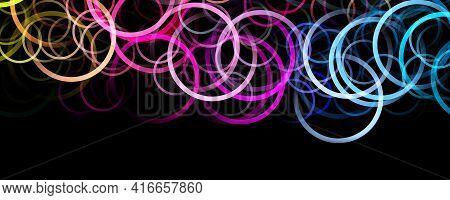 Fantastic Abstract Circle Panorama Background Design Illustration