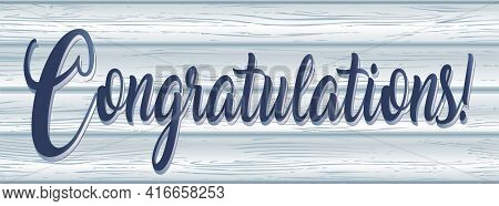 Congratulations Banner On Reclaimed Whitewashed Barn Wood Banner