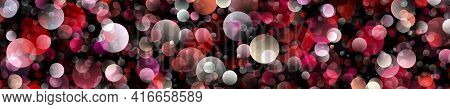 Fantastic Abstract Bubble Panorama Background Design Illustration