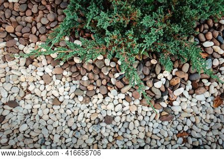 Close-up Of Nature River Gravel Abstract Backgrounds, Gravel Stone Texture Background For Home Lands