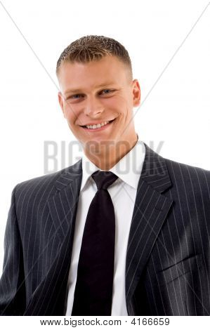 Portrait Of Smiling Handsome Businessman
