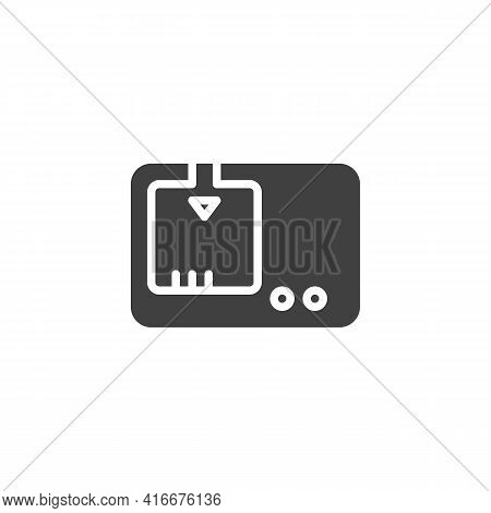 Camera Battery Charger Vector Icon. Filled Flat Sign For Mobile Concept And Web Design. Battery Char