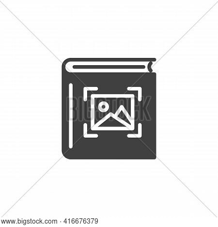 Photo Album Vector Icon. Filled Flat Sign For Mobile Concept And Web Design. Picture Album Glyph Ico