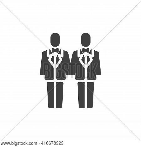 Gay Wedding Vector Icon. Filled Flat Sign For Mobile Concept And Web Design. Gay Marriage Glyph Icon