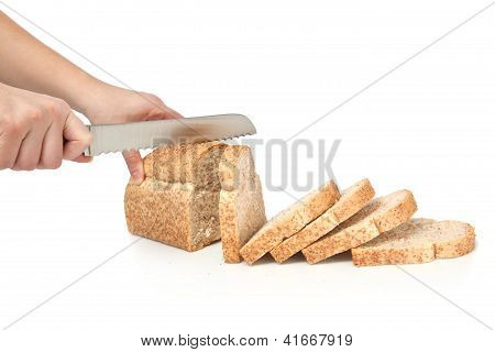 Slices of wheat loaf