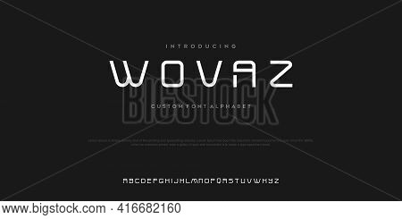 Sport Modern Future Bold Alphabet Font. Typography Urban Style Fonts For Technology, Digital, Movie