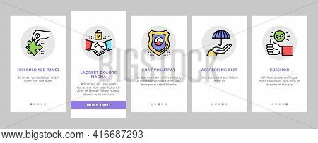 Business Ethics Moral Onboarding Mobile App Page Screen Vector. Social Ethics And Partnership, Hones