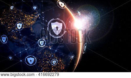 Cyber Security Technology And Online Data Protection In Innovative Perception . Concept Of Technolog