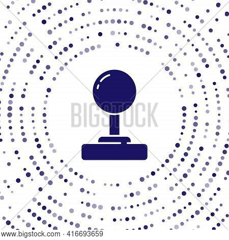 Blue Joystick For Arcade Machine Icon Isolated On White Background. Joystick Gamepad. Abstract Circl