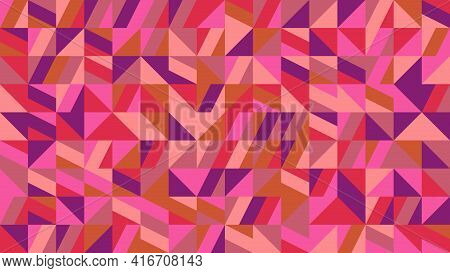Chaotic Random Geometrical Triangle Mosaic Pattern Background Design
