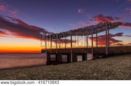 Very Beautiful Dawn At Napier S Marine Parade Viewing Platform.