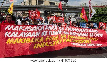 Anti-Government protest in Manila, Philippines