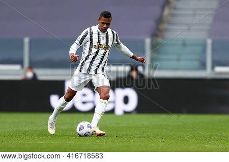 Torino, Italy. 13 April 2021. Alex Sandro Of Juventus Fc  During The Serie A Match Between Juventus