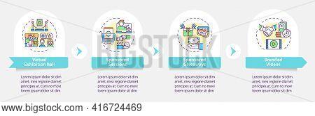 Sponsorship Ve Vector Infographic Template. Virtual Exhibition, Giveaways Presentation Design Elemen