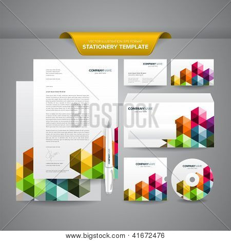 Business Stationery Template Triangle