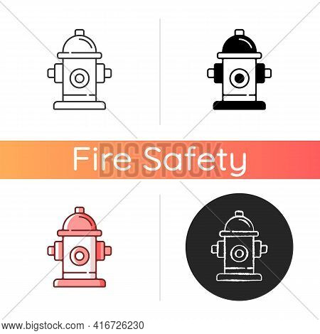 Fire Hydrant Icon. Equipment For Water Supply. Firefighters Department. Flame Extinguishing. Fire Sa