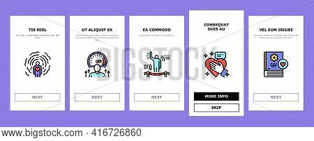 Soft Skills People Onboarding Mobile App Page Screen Vector. Creativity And Decision Making, Underst