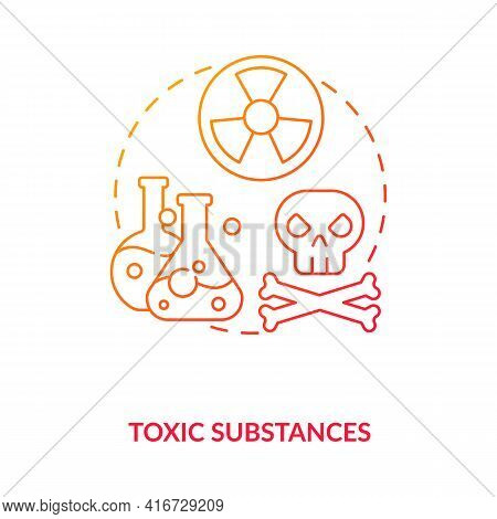 Toxic Substances Concept Icon. E-waste Component Idea Thin Line Illustration. Radioactive Elements.