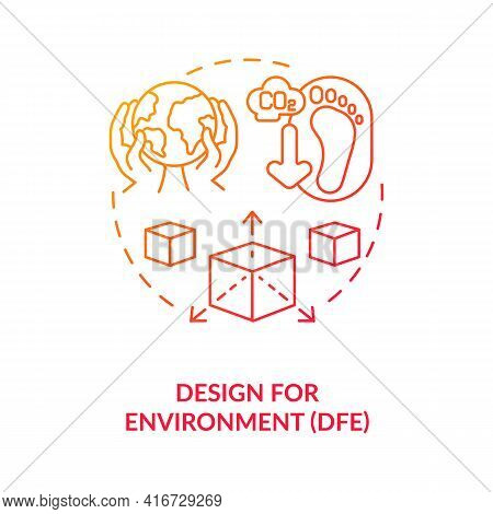Design For Environment Concept Icon. E-waste Reduction Initiative Idea Thin Line Illustration. Life-