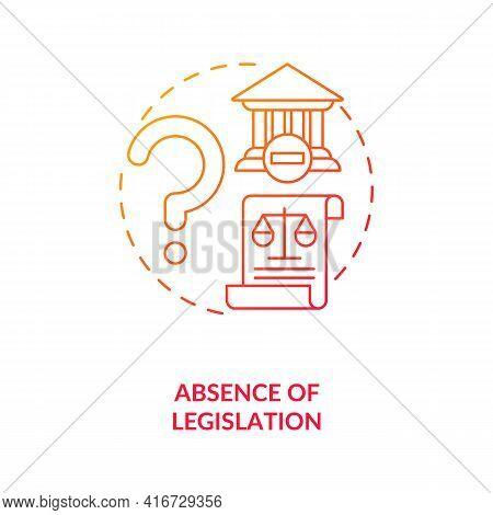 Legislation Absence Concept Icon. E-waste Management Challenge Idea Thin Line Illustration. Laws Acc