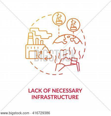 Necessary Infrastructure Lack Concept Icon. E-waste Management Idea Thin Line Illustration. Environm