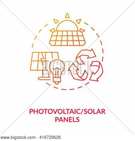 Photovoltaic And Solar Panels Concept Icon. E-waste Category Idea Thin Line Illustration. Easily Rec