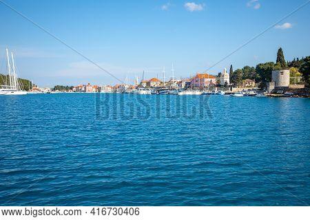 View From Water Of Stari Grad Cityscape, Croatia