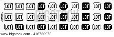 Stamps For Product Packaging. Marking - Batch. Badge Of A Batch Of Products Put On Sale At A Time. L