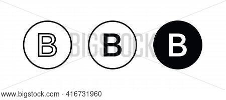 B Letter Logo, Letter B Icons Button, Vector, Sign, Symbol, Logo, Illustration, Editable Stroke, Fla