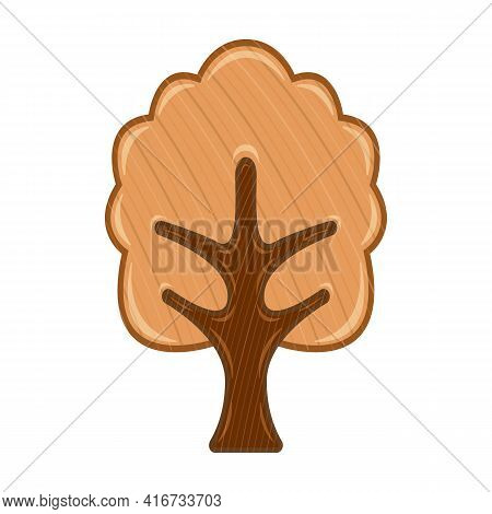 Wood Tree Vector Icon.cartoon Vector Icon Isolated On White Background Wood Tree.
