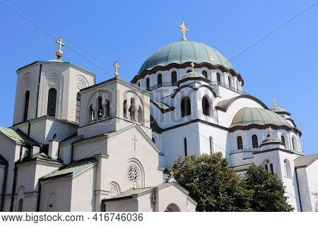 Cathedral Of Saint Sava In Belgrade, Serbia. Orthodox Church.
