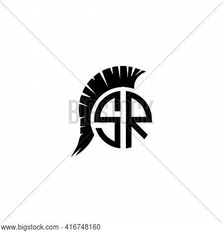 Illustration Vector Design Graphic Of Logo Letter Sr Spartan