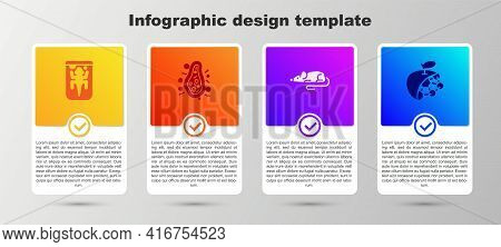 Set Experimental Animal, Bacteria, Mouse And Biological Structure. Business Infographic Template. Ve
