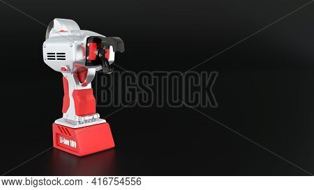 Electric Iron Rod Wire Tier Tool, Cg Industrial 3d Illustration