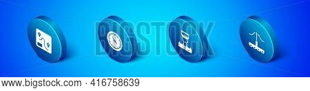 Set Isometric Route Location, Train Conductor, Railway And Station Clock Icon. Vector