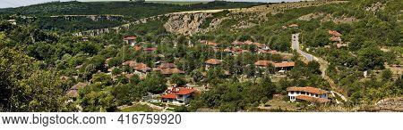 Nisovo, Bulgaria - June 21, 2009: View Of The Beautiful Village Of Nisovo, Bulgaria, Located Below,