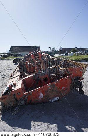 A Shipwreck Or Destroyed Vessel