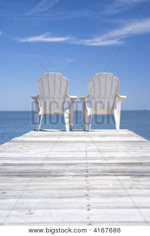 Chairs On A Dock