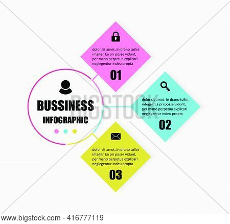 Creative Combination Circular, Square Designs Are Brought Together. Presentation Business Infographi