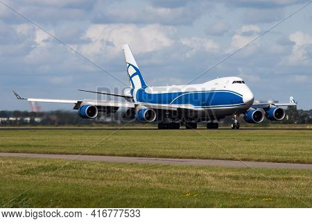 Untitled Airplane. Cargo Plane. Aircraft Without Title At Airport. Aviation Theme. Landing And Arriv
