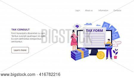 Tax Consult Service For Fill Of Tax Form And Financial Accounting For Business