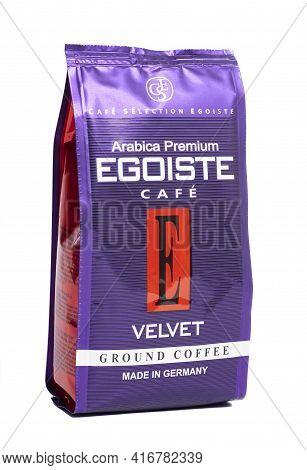 Moscow, Russia April 13, 2021 Ground Coffee Egoiste Velvet