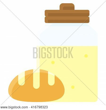 Sourdough Icon, Bakery And Baking Related Vector Illustration
